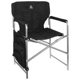 Кресло складное КС2, 49 х 55 х 82 см, цвет чёрный
