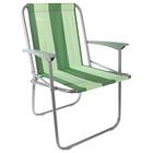 Кресло складное КС4, 57,5 х 61,5 х 74 см, зелёные полоски