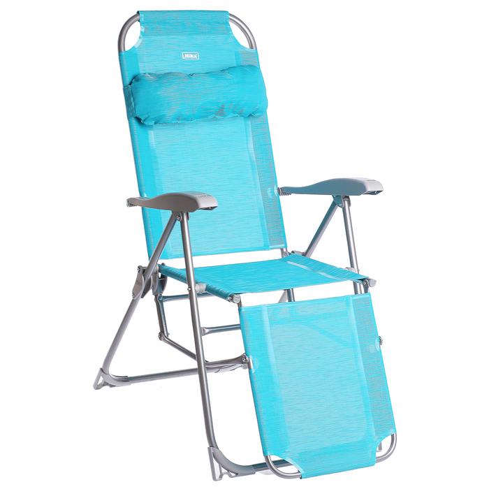 Кресло-шезлонг К3, 82 x 59 x 116 см, бирюзовый