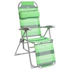 Кресло-шезлонг К3, 82 x 59 x 116 см, цвет зелёный