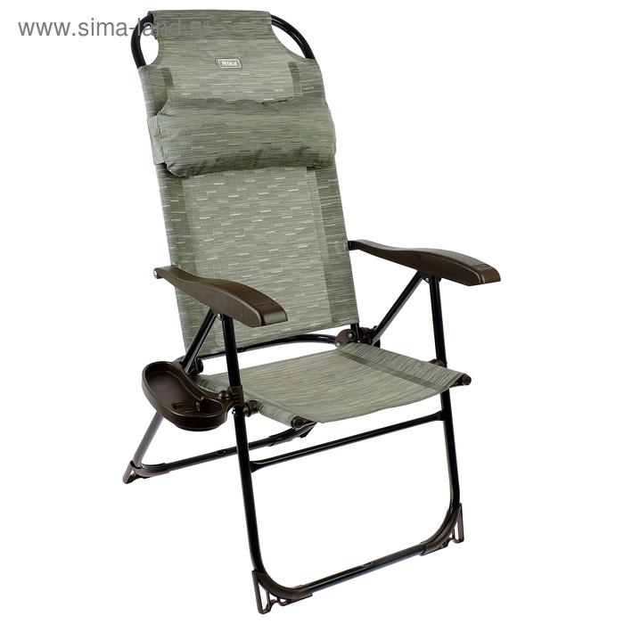 Кресло-шезлонг, 750x590x1090мм, бамбук КШ2