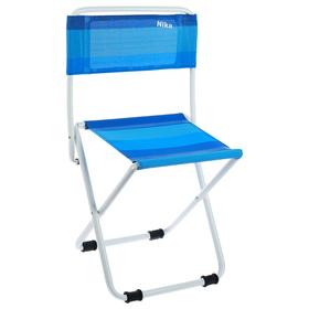 Стул складной пляжный П1, 38,5 x 38 x 65 см, сетка, синий