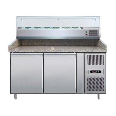Холодильный стол GASTRORAG PZ 2600 TN/VRX 1500/380, для пиццы, 570 Вт, 390 л, +2° до +10°