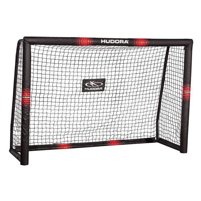 Ворота футбольные HUDORA Pro Tect 240, цвет черно-красный