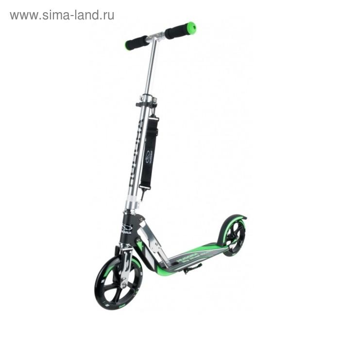Самокат HUDORA Big Wheel RX-Pro 205, цвет черно-зеленый