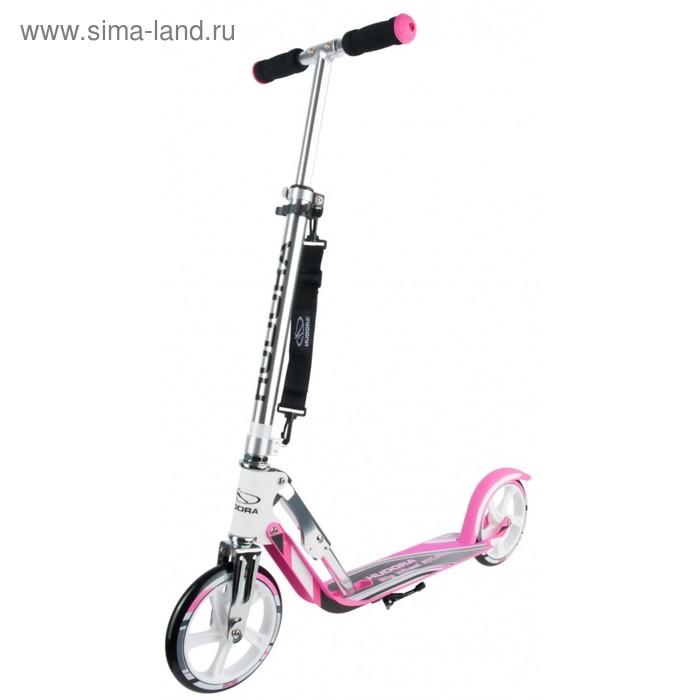 Самокат HUDORA Big Wheel RX-Pro 205, цвет бело-розовый