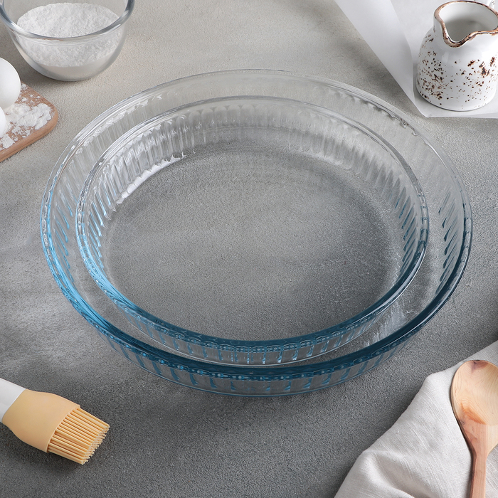Набор посуды для СВЧ. 2 предмета: емкости 32 см 2,6 л и 26 см, 1,6 л