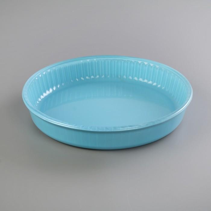 Форма для СВЧ 26 см, круглая, 1,72 л, цвет голубой