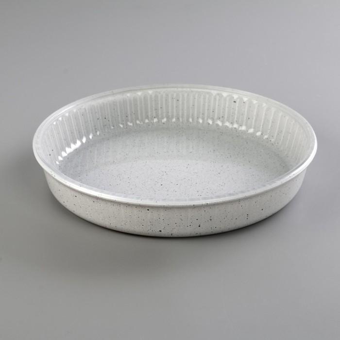 Форма для СВЧ 26 см, круглая, 1,72 л, цвет серый