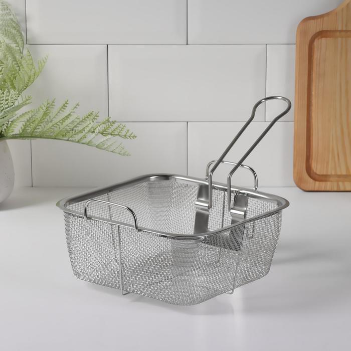Fryer 21х20 cm with removable handle