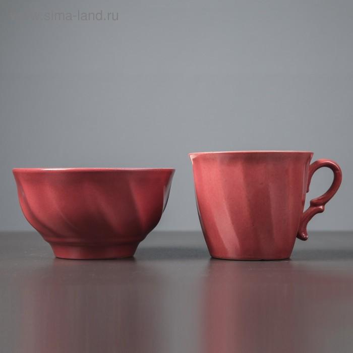 Столовый набор, розовый, кружка 0,4 л и салатник 0,6 л