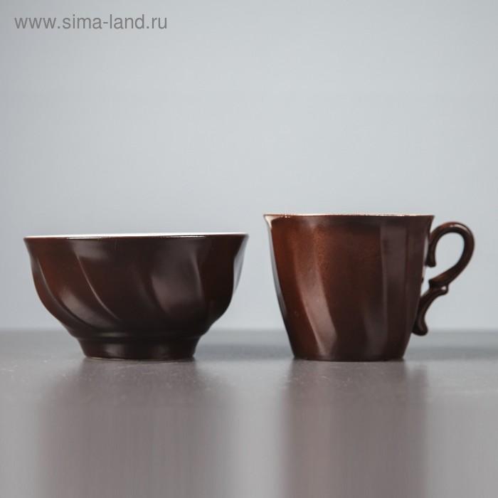 Столовый набор, шоколад, кружка 0,4 л и салатник 0,6 л