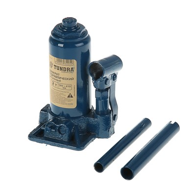 Домкрат гидравлический бутылочный TUNDRA comfort 2 т, телескопический 165-410 мм