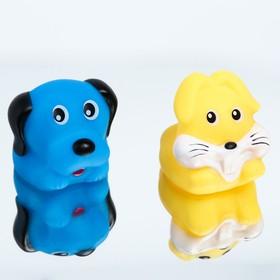 Набор игрушек для ванны «Зверята», 2 шт., виды МИКС