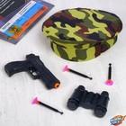 Игровой набор оружия, с головным убором «Юный пограничник» (пистолет, бинокль, берет, присоски 3 шт.)