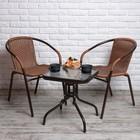 Комплект мебели Асоль-3A TLH-037A/055S-45х45 Cappuccino (2+1)