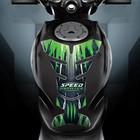 """Наклейка на мотоцикл """"Speed king"""", 25 х 18 см"""