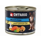 Влажный корм Ontario для собак малых пород, рыбное ассорти, ж/б, 200 г