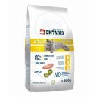 Сухой корм Ontario для домашних кошек, цыпленок, 400 г