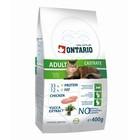 Сухой корм Ontario для кастрированных кошек, 400 г