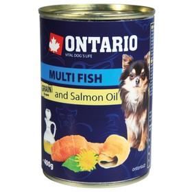 Влажный корм Ontario для собак малых пород, рыбное ассорти, ж/б, 400 г