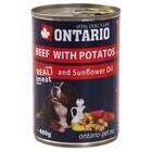 Влажный корм Ontario для собак, говядина и картофель , ж/б, 400 г