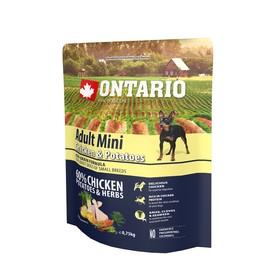 Сухой корм Ontario для собак малых пород, курица и картофель, 750 г.