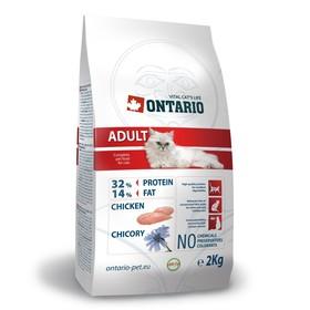Сухой корм Ontario для кошек, курица, 2 кг