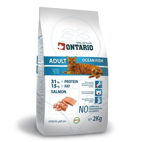 Сухой корм Ontario для кошек, морская рыба, 2 кг