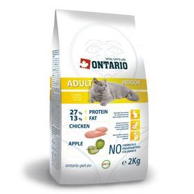 Сухой корм Ontario для домашних кошек, цыпленок, 2 кг