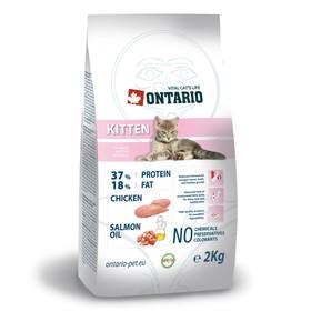 Сухой корм Ontario для котят, курица, 2 кг