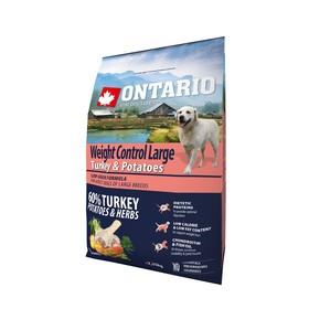 """Сухой корм Ontario для собак крупных пород, """"Контроль веса"""", индейка/картофель, 2,25 кг."""