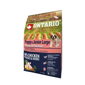 Сухой корм Ontario для щенков крупных пород, курица и картофель, 2,25 кг.