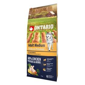 Сухой корм Ontario для собак, курица и картофель, 12 кг.