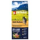 Сухой корм Ontario для собак, ягненок и рис, 12 кг
