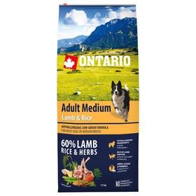 Сухой корм Ontario для собак, ягненок и рис, 12 кг.