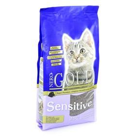 Сухой корм Nero Gold для кошек с чувствительным пищеварением, ягненок, 2,5 кг