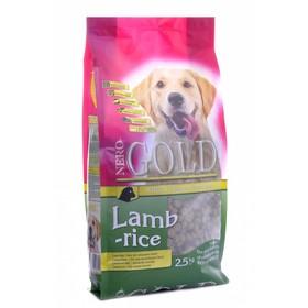 Сухой корм Nero Gold для собак, ягненок и рис, 2,5 кг.