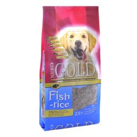 Сухой корм Nero Gold для собак, рыбный коктейль, рис и овощи, 2,5 кг.
