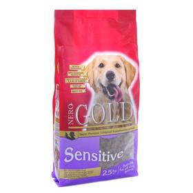 Сухой корм Nero Gold для собак с чувств. пищ-ем, индейка/рис, 2,5 кг.