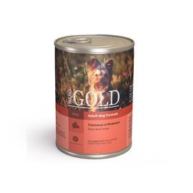 Влажный корм Nero Gold для собак, говяжьи отбивные, ж/б, 410 г