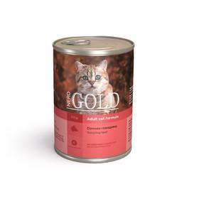 Влажный корм Nero Gold для кошек, сочная говядина, ж/б, 410 г