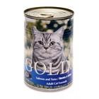 Влажный корм Nero Gold для кошек, лосось и тунец, ж/б, 410 г