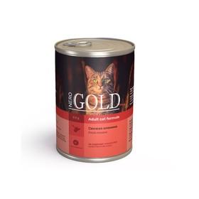 Влажный корм Nero Gold для кошек, свежая оленина, ж/б, 410 г