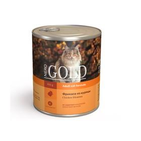Влажный корм Nero Gold для кошек, фрикасе из курицы, ж/б, 810 г