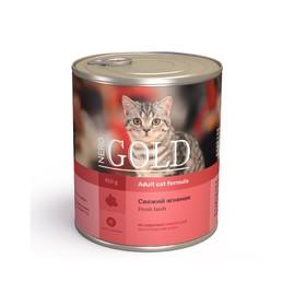 Влажный корм Nero Gold для кошек, свежий ягненок, ж/б, 810 г