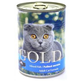Влажный корм Nero Gold для кошек, рыбный коктейль, ж/б, 810 г
