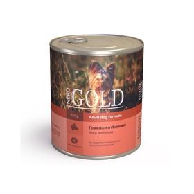 Влажный корм Nero Gold для собак, говяжьи отбивные, ж/б, 810 г