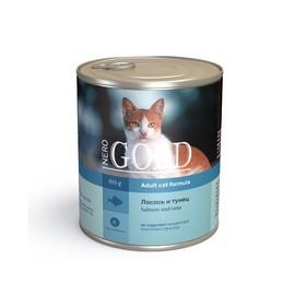 Влажный корм Nero Gold для кошек, лосось и тунец, ж/б, 810 г