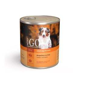 Влажный корм Nero Gold для собак, индейка и утка, ж/б, 810 г